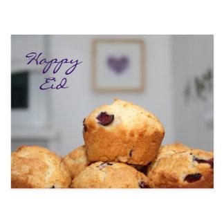Cupcakes felizes islâmicos dos muffin dos doces do cartão postal