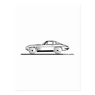 Cupé 1963 da janela da separação do raio de cartão postal