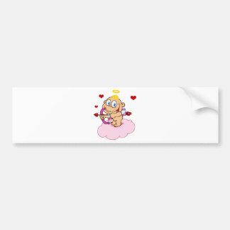 Cupido bonito com flutuação do arco e da seta adesivo para carro