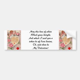Cupido do vintage com pomba e carta de amor adesivo para carro