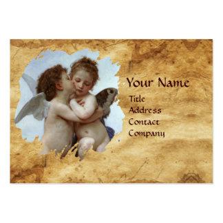 Cupido e psique como o pergaminho das crianças cartão de visita grande