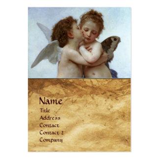 Cupido e psique como o pergaminho do MONOGRAMA das Cartão De Visita Grande