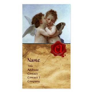 Cupido e psique como o pergaminho do MONOGRAMA das Cartão De Visita