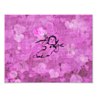 Cupido pequeno doce, roxo impressão de foto