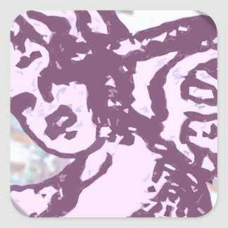 Cupido redondo adesivo quadrado