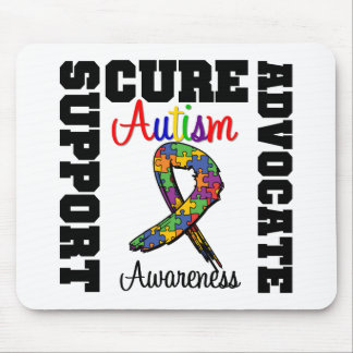 Cura do advogado do apoio do autismo mousepads