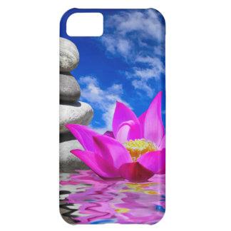 Cura natural, reflexões da flor de Lotus Capa Para iPhone5C