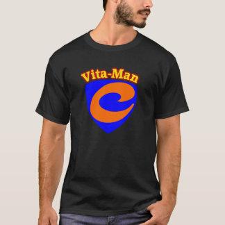 Cura real do t-shirt toda a vitamina C do Vita-Man