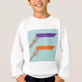 Curso da escova de pintura t-shirt