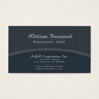 Curva azul escuro cartão de visitas