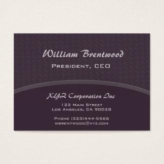 Curva escura do roxo da ameixa cartão de visitas