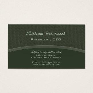 Curva verde escura cartão de visitas