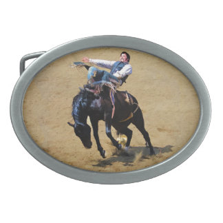 Curvatura em pêlo Bucking do vaqueiro do bronco e