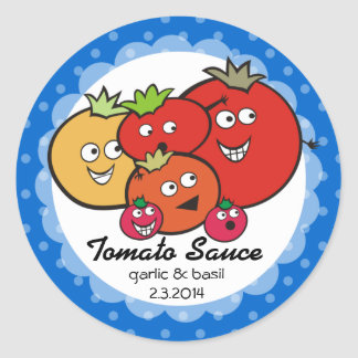 Custom color funny tomatoes canning label sticker