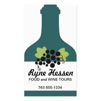 custom color wine bottle grapes sommelier biz card business card template