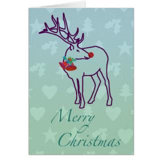 Customizável: Cervos festivos Cartão Comemorativo