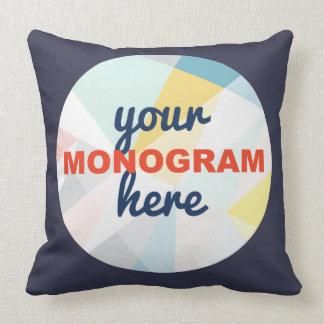 Customizável com seus monograma/logotipo almofada