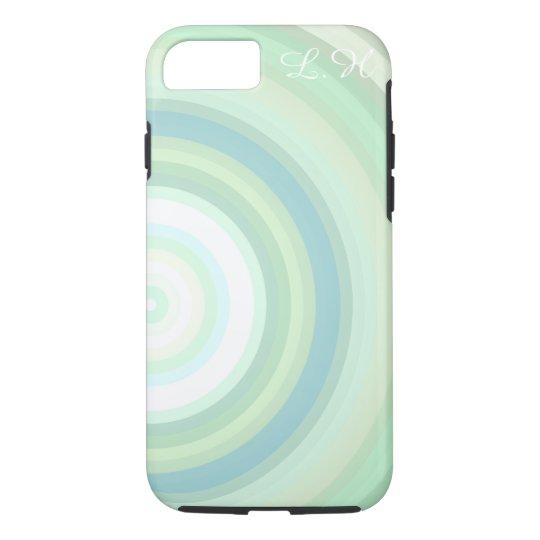 Customizável Monogrammed dos círculos Pastel Capa iPhone 8/7
