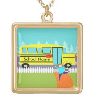 Customizável travando a colar do auto escolar