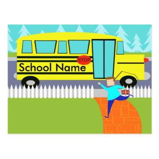 Customizável travando o cartão do auto escolar cartão postal