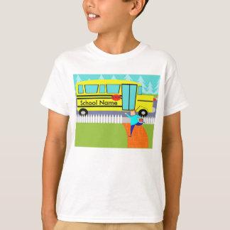 Customizável travando o t-shirt do auto escolar