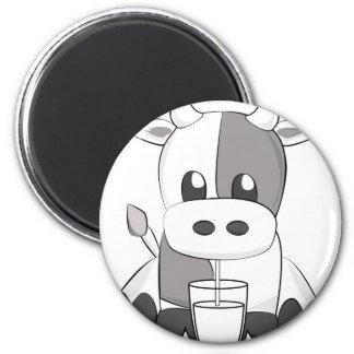Cute cow - Vaquinha fofa Ímã Redondo 5.08cm