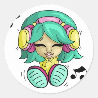 Cutie da música adesivo