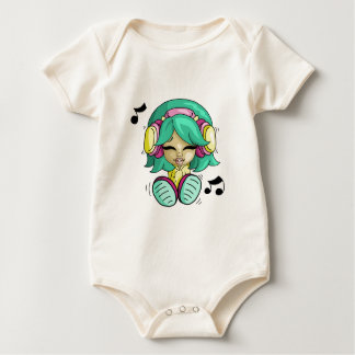 Cutie da música body para bebê