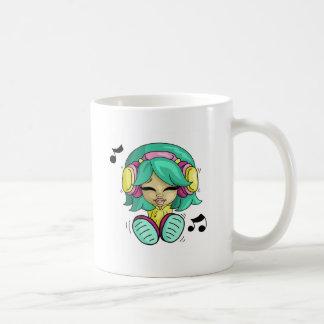 Cutie da música caneca de café