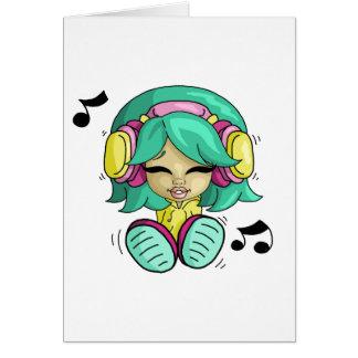 Cutie da música cartão comemorativo