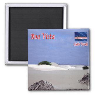 CV - Cabo Verde - boa Vista - deserto Ímã Quadrado