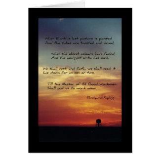 """Da """"A última imagem terra """" Cartão Comemorativo"""