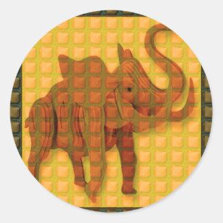 Da arte decorativa do botão do elefante os adesivo