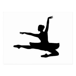 ~ da BAILARINA JETÉ (silhueta do dançarino de Cartão Postal