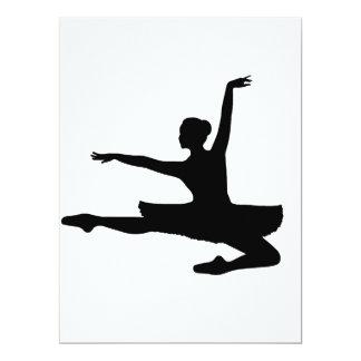 """~ da BAILARINA JETÉ (silhueta do dançarino de Convite 16.51"""" X 22.22cm"""