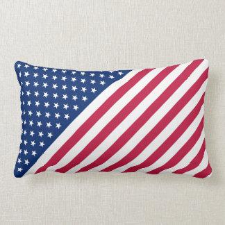 Da bandeira branca azul vermelha das estrelas das almofada lombar
