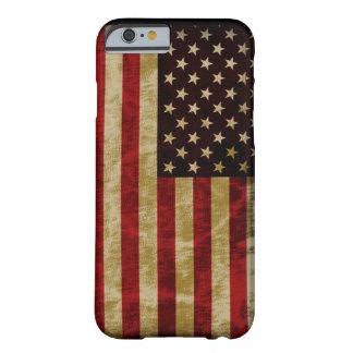 Da bandeira retro dos EUA do estilo do Grunge Capa Barely There Para iPhone 6