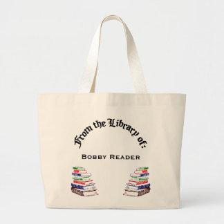 Da biblioteca do saco de livro feito sob encomenda sacola tote jumbo