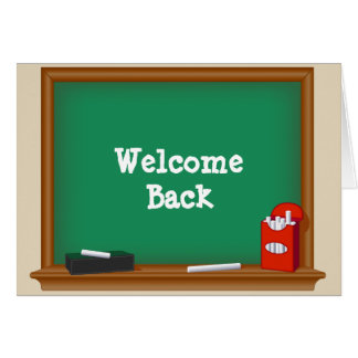 Da boa vinda estudantes para trás cartão de nota