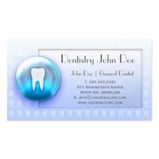 Da bolha branca dos dentes de Dentalcare cartão de Modelo Cartoes De Visitas