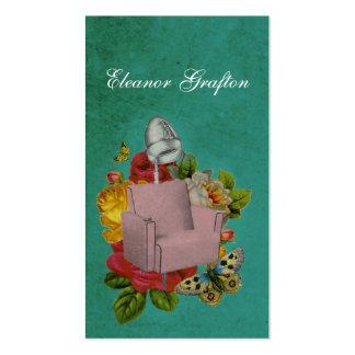 Da cadeira gasto do secador do salão de beleza do cartão de visita