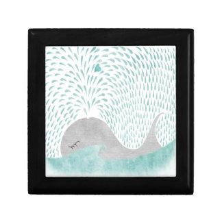 """Da """"caixa do amor baleia"""" caixa de presente quadrada pequena"""
