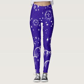 """Da """"calças justas das caneleiras lua e das leggings"""