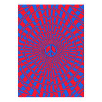 """Da """"cartão carnudo da dimensão paz"""" cartão de visita grande"""