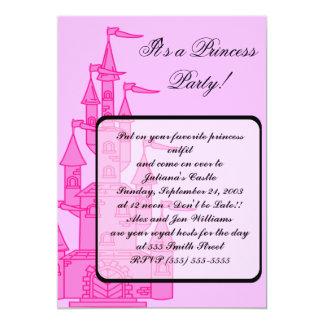 """Da """"convites princesa Partido"""" do rosa Convite 12.7 X 17.78cm"""