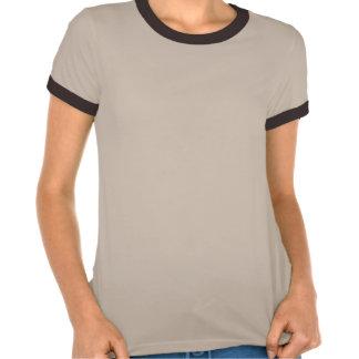 Da direita para a esquerda neve da pegada na recei camisetas