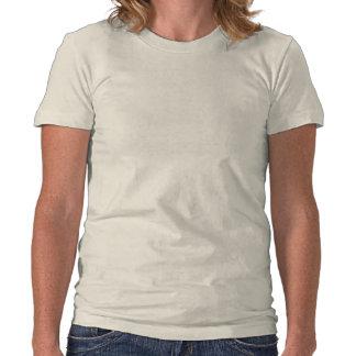 Da direita para a esquerda neve da pegada na recei tshirt