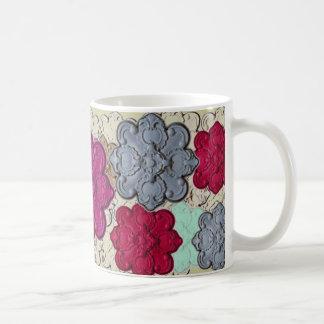 ~ da explosão da flor caneca de café