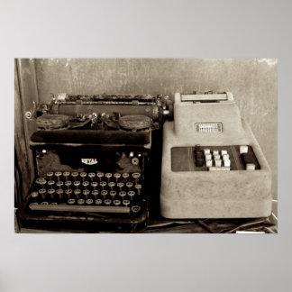 Da harmonização e do Typwriter da adição Posteres
