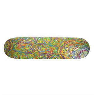 dá laços no roxo vermelho do amarelo do verde azul shape de skate 20cm